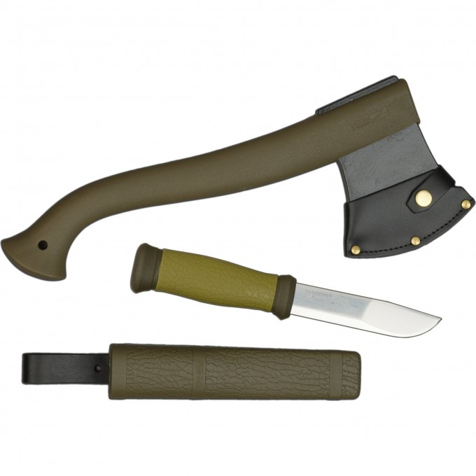 Набор MORAKNIV Outdoor Kit MG, нож Mora 2000 + топор (зеленый) 1-2001